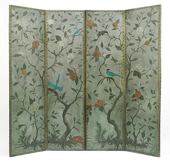 Painted Screens Room Dividers Decorative Folding Screens Hand