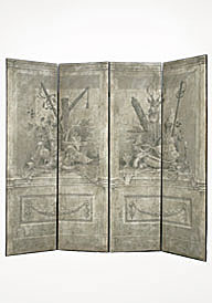 Fontainebleau Painted Screen