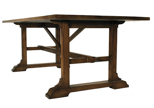 Field Trestle Table | Custom Trestle Table | Solid Wood | Handcrafted In USA